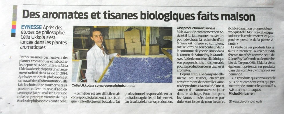 article sud ouest 18 mars 2018 bio phyto shop